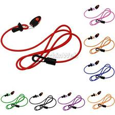 Elastic Kayak Canoe Safety Paddle Fishing Rod Lanyard Paddle Leash Clip +Whistle