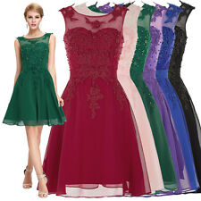 BEADED Graduation Evening Pageant Party Prom Bridesmaid Dresses Short Mini Gowns