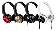 Pioneer SE-MJ542 Closed Type Folding Headphones Red Gold Black White NEW JAPAN