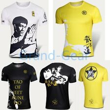 Cycling Running T shirt Jersey Men Pro Tee Short Bruce Lee Sport GongFu Gym