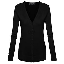 Women Casual Long Sleeve V Neck Solid Slim Knitwear Cardigan Sweater Coat TXGT