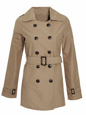 Womens/Ladies/Girls New Double Breasted Mac Buckle Belted Trench Coat Jacket