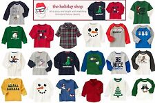 NWT Gymboree Boy's Christmas Holiday Shop Winter Tops Multiple Sizes