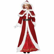 Mrs Claus Costume Adult Womens Christmas Fancy Dress Red Velvet Outfit