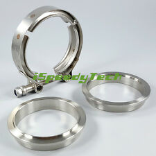 V-Band Flange Kit 2.5'' 2.5 Inch V Band Clamp 64 mm for Turbo Exhaust Downpipe