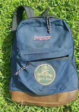 Vintage Jansport Backpack w/ Rusted Roots Patch & Leather Bottom