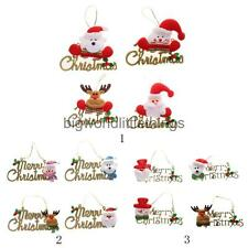 4x Merry Christmas Hanging Decoration Christmas Wall Door Tree Hanging Decor