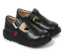 Kickers Kick Lo Aztec Infant Junior Black Leather  Back To School  Shoes