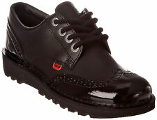 Kickers Kick Lo Brogue Girls Leather Back to School Shoes