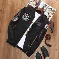 2016 NEW MENS EMBROIDERED CASUAL ARMY JACKET MILITARY ARMY FLIGHT BOMBER JACKET