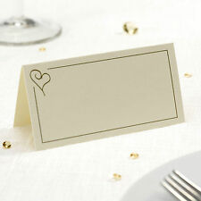 100 TABLE PLACE CARDS Name Setting IVORY HEART Wedding / Engagement Parties