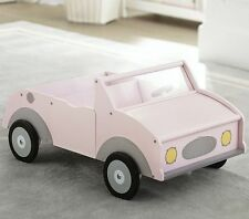 "NEW POTTERY BARN KIDS DOLL CAR 18"" Doll Wooden PINK American Girl SOLD OUT!!"