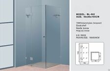 Frameless Shower Screen 10mm with Solid chrome Handle