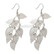 Fashion Multilayer Hollow Leaves Dangle Drop Earrings Ear Hook Women Accessories