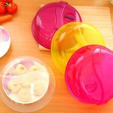 Plastic Microwave Plate Cover Food Dish Steam Vent Splatter Lid Kitchen Cooking