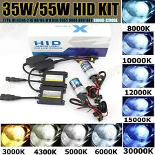 55W Hid Xenon Light Kit Headlight Conversion H1 H3 H4 H7 9005 9006 4300K 6000K