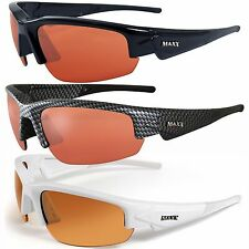 Maxx DYNASTY 2.0 HD Black Carbon Fiber White Sunglasses