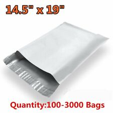 100-3000 14.5x19 Poly Mailers Envelopes Self Sealing Plastic Bags Free Shipping