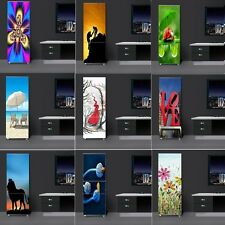 Fridge Door Sticker Self-adhesive PVC Refrigerator Wrap Cover Wall Mural Decal