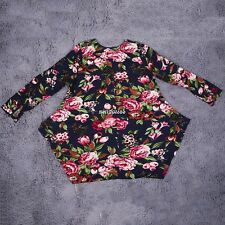 Floral Print Linen Long Sleeve V-Neck Dress Two Color To Choose Three Sizes G8