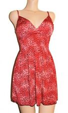 SEXY PINK Leaopard PRINT PADDED BRA SHORT TUNIC CLEAVAGE DRESS HOLIDAY PARTY TOP