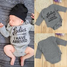 Infant Newborn Baby Boy Girl Long Sleeve Bodysuit Romper Jumpsuit Clothes Set