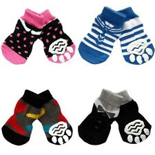 Puppy Pet Dog Indoor Socks Anti-slip Knit Soft Warm Puppy Socks Costume 4Pcs