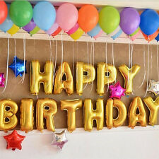 """Hot 13Pcs """"HAPPY BIRTHDAY"""" Letters Foil Balloons For Birthday Party Decoration G"""