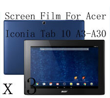 3 Glossy Matte Screen Protector Guard Film Skin For Acer Iconia Tab 10 A3-A30