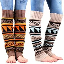 Women Lady Fashion Crochet Knitted Boot Cuffs Trim Toppers Socks Leg Warmer