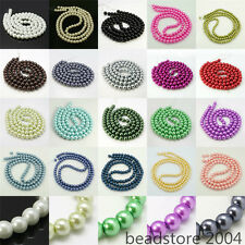 6mm Glass Pearl Round Spacer Loose Beads for Jewelry Making about 140pcs/strand