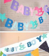 Bunting Flags Banners Garland Baby Shower Blue/Pink Boy Girl
