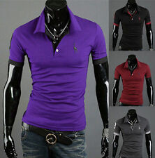 Short Sleeve Casual Style Tops Tee POLO Shirt Slim Fit T-shirt Fashion New Mens