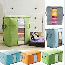 Portable quilt beding Bamboo Clothing Storage Bag Pouch Large Underbed