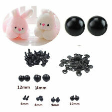 Toy Eyes Black Plastic 6-14mm Animal/Felting Safety 100pcs For Teddy Bear