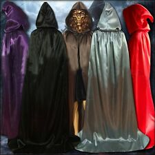 Adult Halloween Gothic Funny Hooded Cloak Medieval Witchcraft Cape Robe Costume