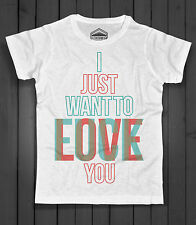 Men's T-shirt I JUST WANT TO FUCK / love YOU sex or love Inkdustry