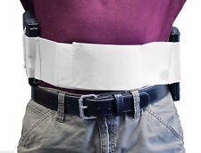 "Belly Band 2 Gun Holster 4"" Wide CCW in Black or White - Size 4X - 5X"