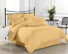 1200 TC Hotel Gold Stripe Sets 100% Egyptian Cotton All Size By Royal Bedding's