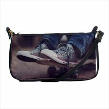 Skateboarder Shoulder Clutch Handbag & Mini Coin Purse