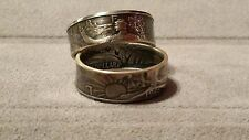 Walking Liberty Half Dollar Coin Ring Artisan Handcrafted (1940-1947) Size 10-13