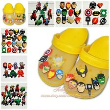 14-38pcs Avengers Shoe Charms Decoration for kid shoe Jibz Silicone Wristbands
