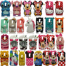 Cartoon 3D Soft Silicone Phone Back Case Cover Skin For LG Series Phones Cases