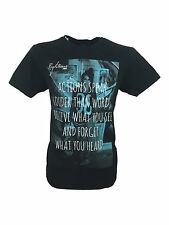 Mens BNWT Righteous London Actions Black Tee T-Shirt in Size Medium