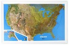 United State (All 50 States) Raised Relief Map - Natural Color Relief Style