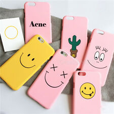 Cute Cartoon Smile Face Heart Cactus Hard Case Cover For iPhone 5 5S 6 6S Plus