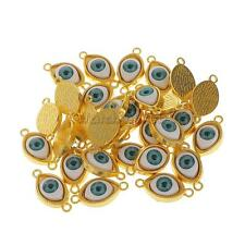 30 x Alloy Evil Eye Charms Amulet Pendants for Jewelry Makings DIY