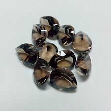 10x7mm to 15x20mm Natural Smoky Quartz Concave Cut Oval Calibrated Size Gemstone