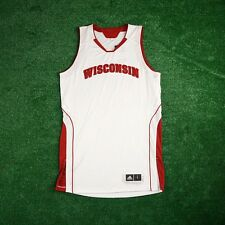 Wisconsin Badgers ADIDAS NCAA Authentic Game Issued Pro Cut Home Jersey Men's