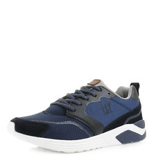 Mens Fly London Sefa Blue Classic Retro Navy Casual Trainers Shu Size